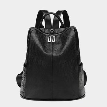 Female backpack mochila feminina casual Multifunction Women Leather Backpack Female Shoulder Bag Sac A Dos Travel Back Pack C992