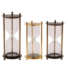 Home Kitchen Empty Sand Glass Case Hourglass 3/5/10/15/20 Minute Sand Traditional Hour Glass Kitchen Timer Portable(China)
