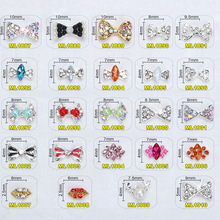Get more info on the 100xSilver/Gold 3D Alloy Rhinestones Bow Tie Nail Rhinestones Gems Strass Nail Accessories DIY Charm Nail Jewelry DecoratioN