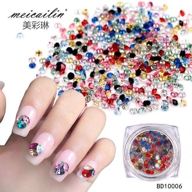 Wholesale 150 pcs set Crystal Multi-color 3D Nail Art Decorations  Rhinestones For Nails 5607010b0866