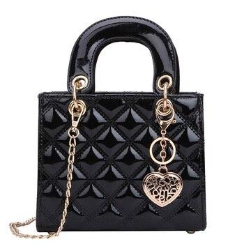 Роскошная брендовая Сумка-тоут 2020, модная Новая высококачественная женская дизайнерская сумка из лакированной кожи, сумка-мессенджер на це...