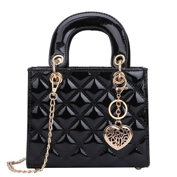 Роскошная брендовая сумка 2019, модная новинка, высокое качество, лакированная кожа, женская дизайнерская сумка, на цепочке, сумка через плечо