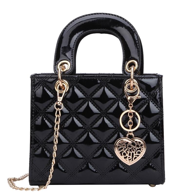 Luxus Marke Tote tasche 2021 Mode Neue Hohe Qualität Patent Leder frauen Designer Handtasche Lingge Kette Schulter Messenger Tasche
