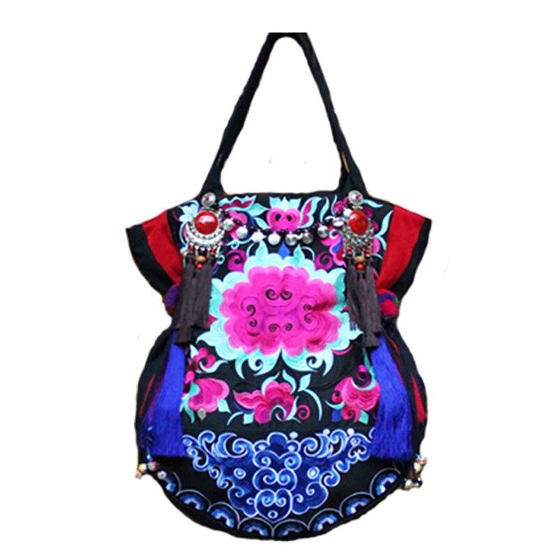 Najnovije vezenje platno žene torbe Etničke ručne tassel lagre - Torbe - Foto 5