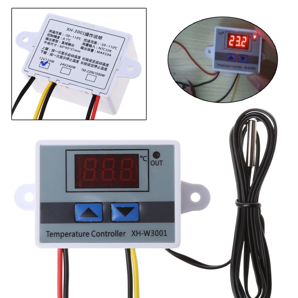 XH-W3001 Microcomputer Digital Temperature Controller Thermostat Temperature