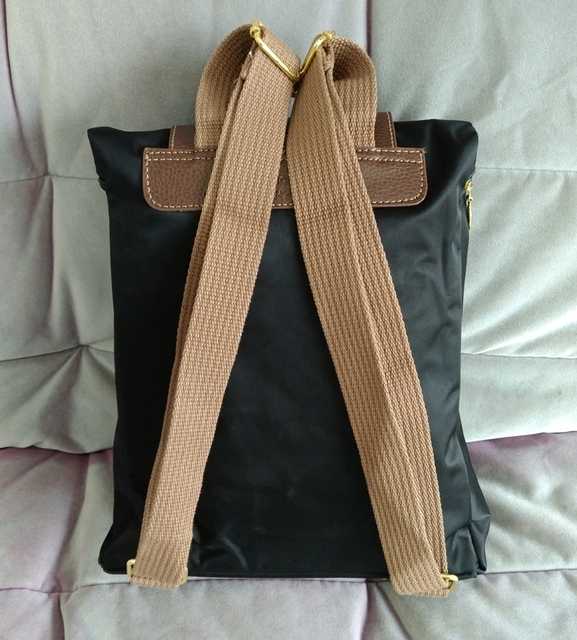 Champagne Color Backpack For Women And Men With Nylon Canvas With Long Strap School Backpack Travel Bags 2016