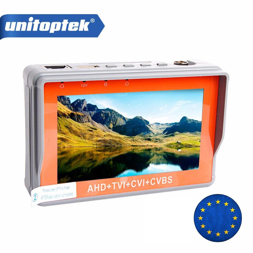 5MP AHD CCTV Testeur 4 En 1 Pour AHD TVI CVI CVBS Analogique Caméra De Sécurité Moniteur Avec 4.3 Pouces LCD Écran 5 V 2A, 12 V 1A