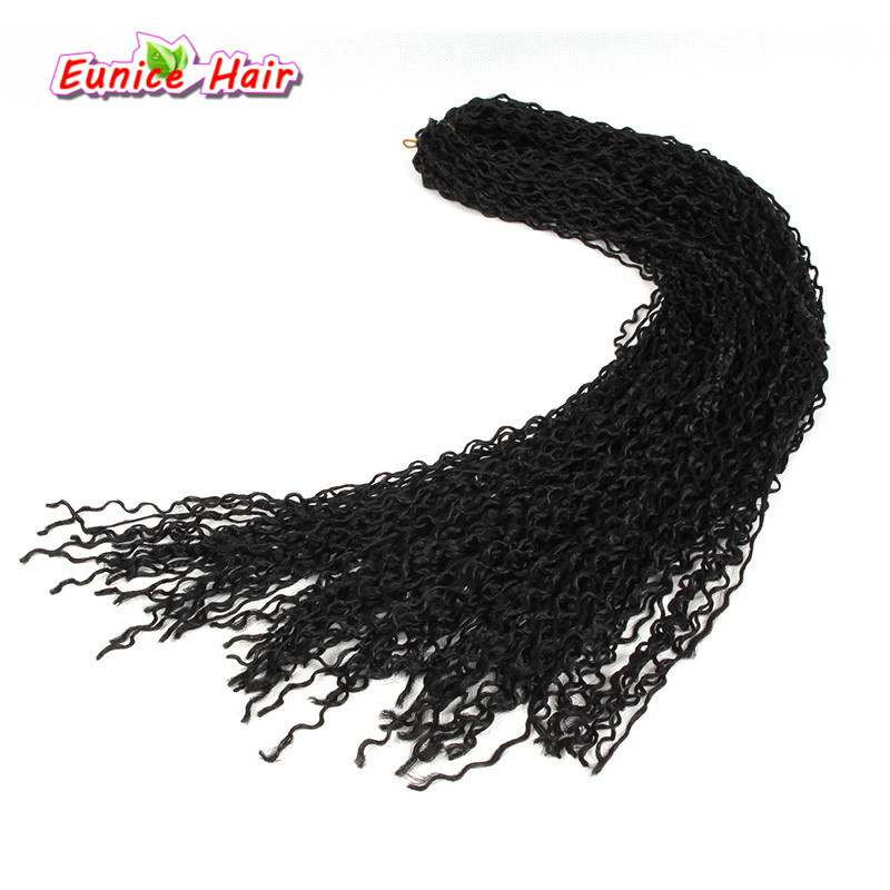 Natural Back Freetress Synthetic hair Crochet Braids Micro Knot Zizi braid 24inch Kanekalon Braiding Micro Zizi Curl Russia