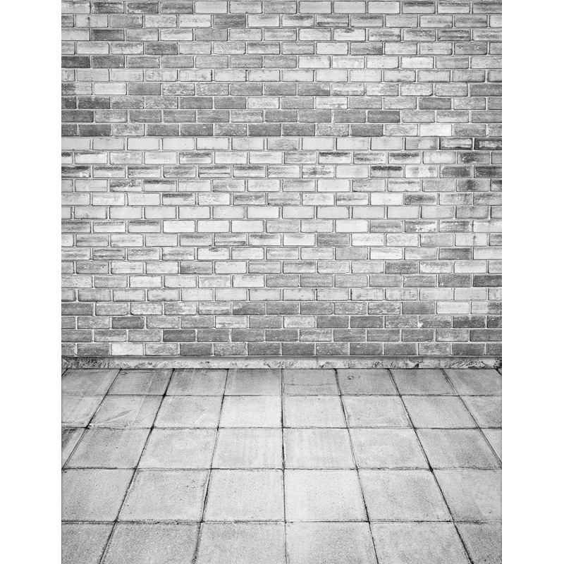 Custom vinyl cloth print 3 D brick wall with floor photo studio backgrounds for photography photographic backdrops props S-2595 7x5ft vinyl photography background white brick wall for studio photo props photographic backdrops cloth 2 1mx1 5m