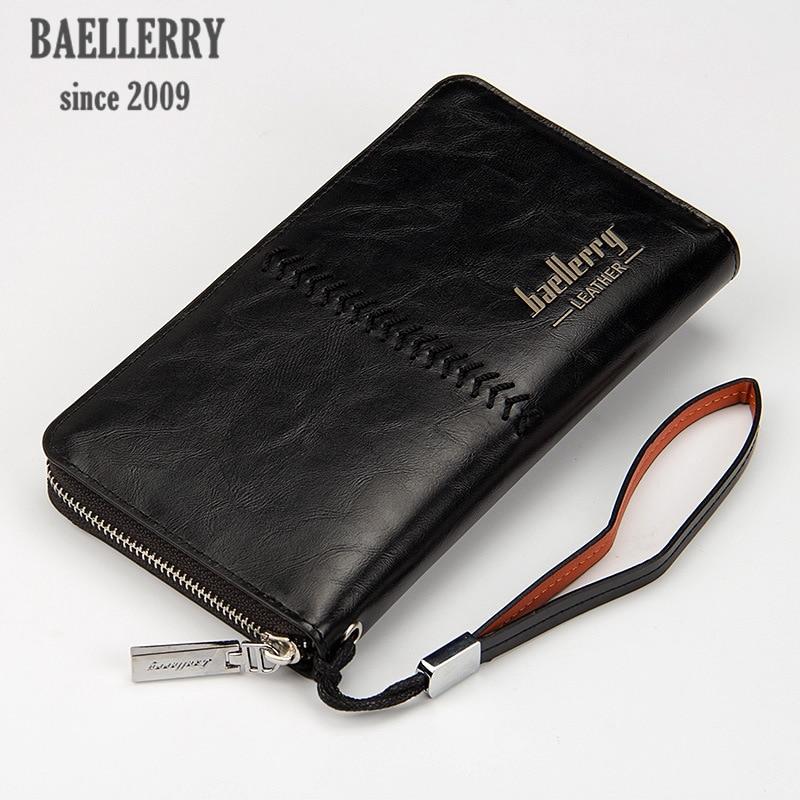 Online Shop Baellerry brand business wristlet smart wallet leather ...
