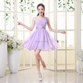 2016 new stock Plus size Short design strap wedding party dress one shoulder chiffon sweetheart dress Bridesmaid Dresses x20