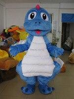 SX100 nuovo disegno drago blu mascotte adulto costume della mascotte del drago