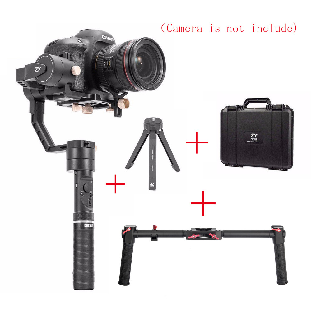 Zhiyun Crane Plus 3 Axis Handheld Gimbal Stabilizer,for Sony Canon DSLR Camera POV 2.5KG Payload Object-tracking + Dual Handle zhiyun crane plus 3 axis handheld gimbal stabilizer for sony canon nikon panasonic dslr camera pov 2 5kg payload object tracking