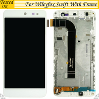For Wileyfox Swift lcd Touch Screen+ LCD Screen Display Assembly Tested For Wileyfox swift lcd With Frame Smartphone Replacement