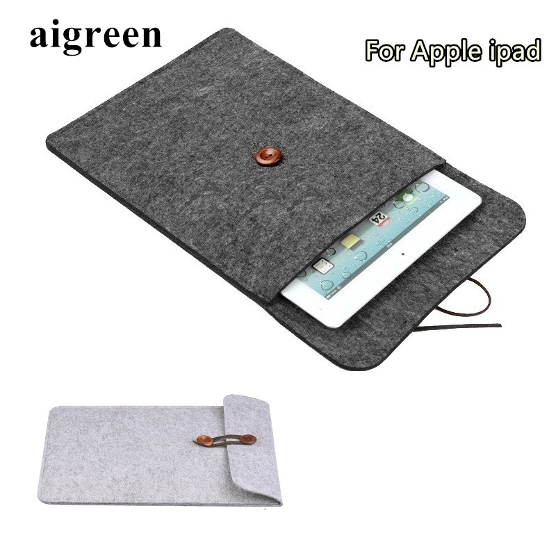 Newest Hot Wool Felt Sleeve Case For Apple Ipad, Bag For ipad 2/3/4, Pouch For ipad 9.7 inch, Wholesales,Free Drop Shiping IC05 2017 newest cool bell brand nylon handbag messenger bag for ipad 1 2 3 4 for 8 9 10 tablet case free drop shipping 2027