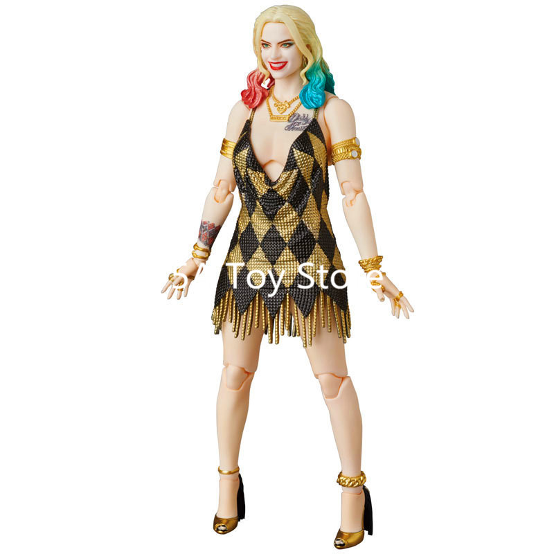 Marvel DC Comics Suicide Squad Harley Quinn Dress Ver MAFEX 042 PVC Action Figure Model Collection Toy Doll