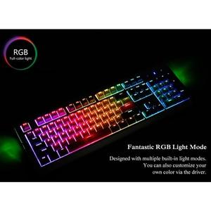 Image 5 - لوحة مفاتيح ميكانيكية من Ajazz AK510 104 لوحة مفاتيح للألعاب ذات إضاءة خلفية RGB لوحة مفاتيح سلكية بلونين PBT غطاء مفاتيح مريح