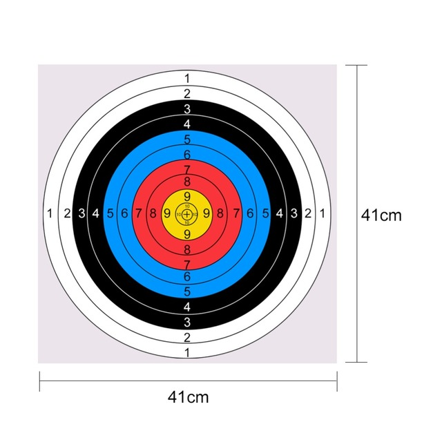 1PCS /Lot 41x41mm Bow Arrow Gauge Shooting Target Paper Full Ring Beginner Profession Archery Clear Thick Color Targets Paper