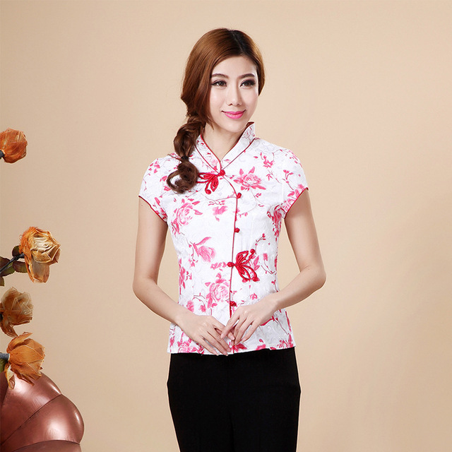 f02e81d8a Hot Sale Summer Cotton Chinese Style Women Tang Suit Tops Blouse Vintage  Traditional Chinese Shirt M L