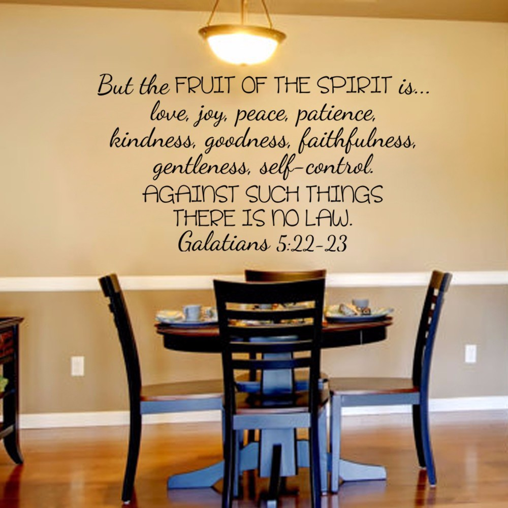Scripture Wall Decal Christian Wall Decal Galatians 5:22 23But The ...