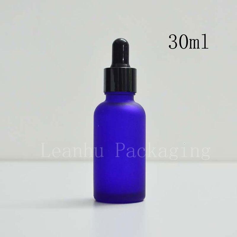 30 ml vazio fosco cor azul pontos de engarrafamento de oleo garrafa frasco conta gotas de
