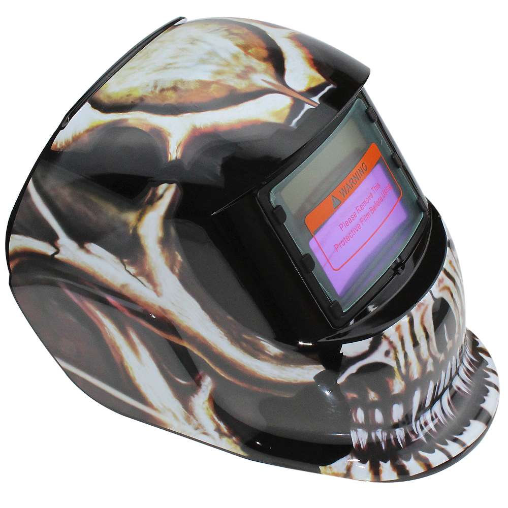 Branch Skull Adjust Solar Auto Darkening TIG MIG Grinding Welding Helmets / Face Mask / Electric Welding Mask / Weld Cap stepless adjust solar auto darkening electric welding mask helmets welder cap eyes glasses for welding machine and plasma cutter