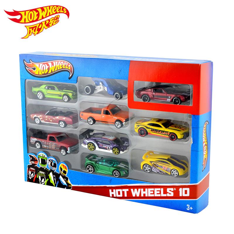 Hot Wheels 1:64 Mini Model track ESS BSC 10 Car Pack Toys For Children Diecast Hotwheels 54886 Car Models Birthday Gift For Kid