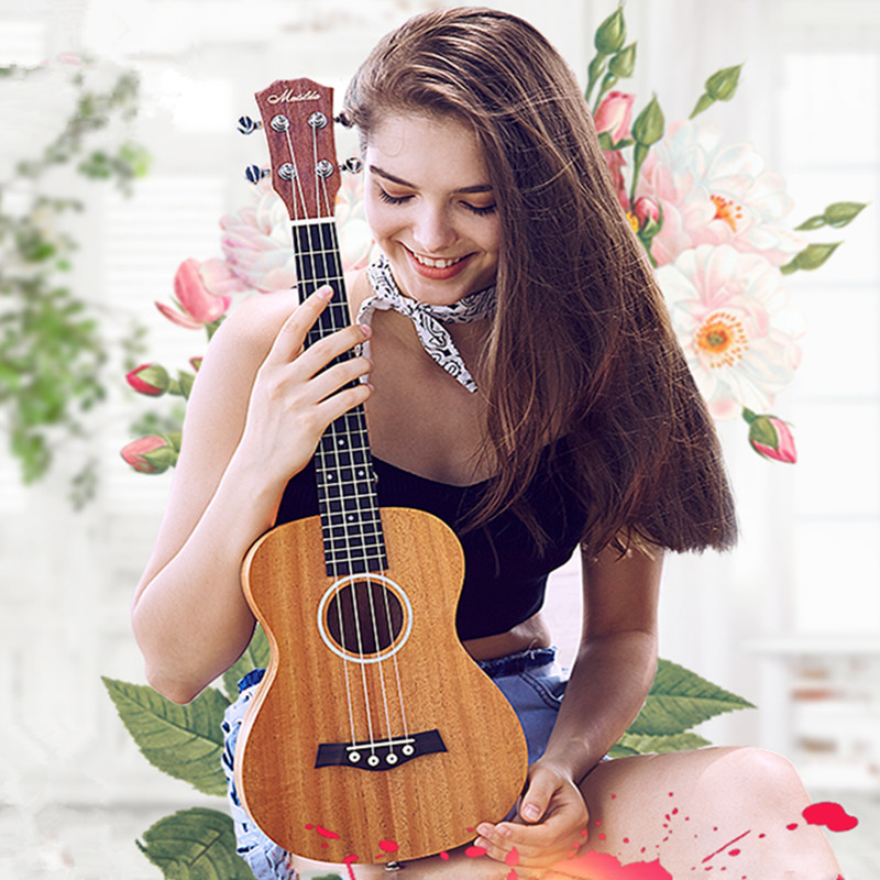 21 inch Mahogany Ukelele Hawaiian 4 Strings Guitar Bass Guitar Guitarra Musical Instrument Set ukulele dr strings nmcb 40 nmcb 45 nmcb5 45 dr k3 neon bass guitar strings light multi color