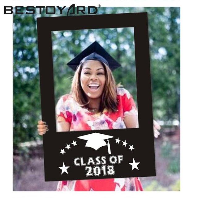 BESTOYARD Clase de 2018 DIY papel marco recortes Photo Booth Props ...