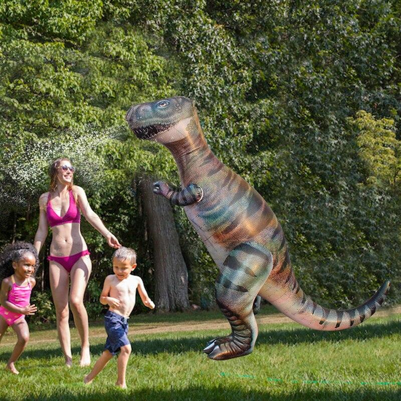 180 cm GINORMOUS DINOSAURE COUR D'ARROSAGE Pour Enfants Adulte Bébé D'été éclairage Extérieur D'eau Plage De Sable Jouets Piscine Accessoires