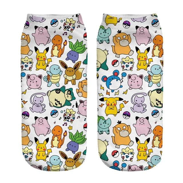 2017 New Arrival HARAJUKU 3D Pokemon Printed Socks