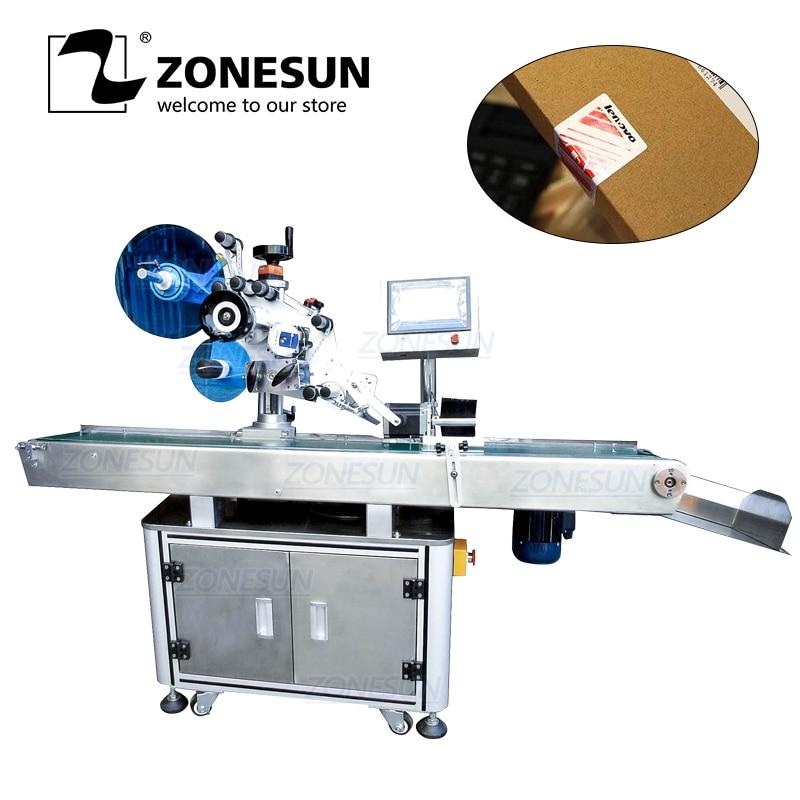 ZONESUN XL-T833 Automatic Box Carton Sealing Folding Corner Adhesive Sticker Packing Labeling Machine Box Sealing Machine