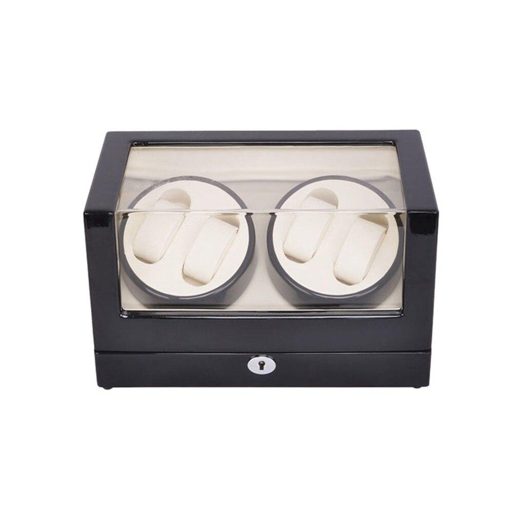 Часы Winder, LT деревянный автоматический поворот 4 + 0 часы Winder коробка для хранения витрина (черный красно белый) с замком