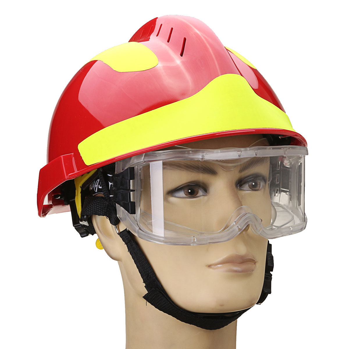 Hot Rescue Helmet Fire Fighter Protective Glasses Safety Protector Workplace Safety Fire Protection 53CM-63CM tactical wargame motorcycling helmet w eye protection glasses black size l7