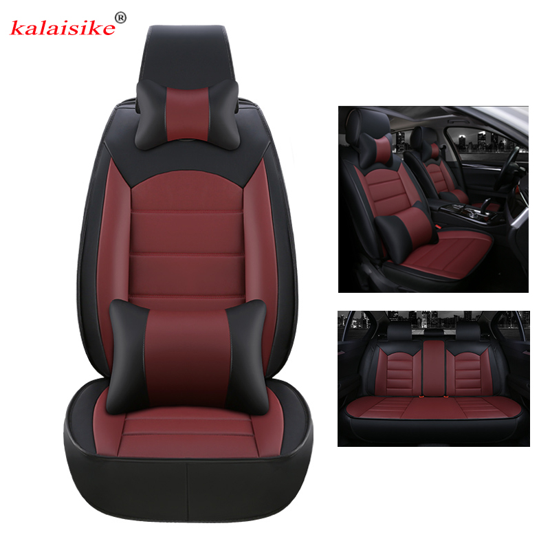 kalaisike leather universal car seat covers for Buick all models VELITE Envision Verano ENCORE Excelle enclave regal car styling