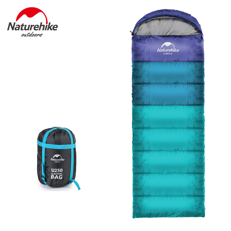 цены Naturehike Spring and Autumn Camping Sleeping Bag Soft Sleeping Bags Envelope Spliced Left Right Splicing Single Blue Orange