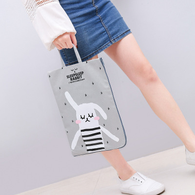 Creative Cloth Art A4 Oxford Cloth Waterproof Portable Paper Bag Of The Student Data Classification Receiving Bag