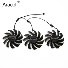 3pin T128010SM PLD08010S12H for Gigabyte GV-N970WF3OC-4GD GTX970 Graphics Video card Cooling fan Pitch 4.0 Diameter 7.5cm 2pcs lot t128010sm pld08010s12h 75mm fan for gigabyte graphics card cooler cooling fan