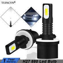 TUINCYN 2Pcs H27 Led 880 Led Bulb H27W1 2400LM 6500K White Car Fog Light Front Head Driving Running Lamp Auto 12V H27W/1 H27W(China)