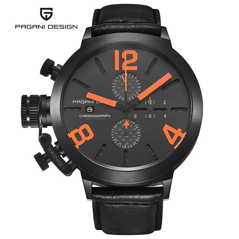 Original PAGANI DESIGN Quartz-Watch Men Unique Innovative Military Watches Multifunction Sports Dive Watches relogio masculino