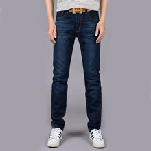 four seasons can wear men's fashion  slim straight jeans waist young people straight slacks quality men jeans