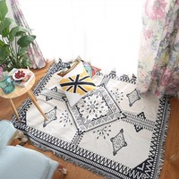 Nordic Style Double Sides Useful Geometric Pattern Cotton Blanket Durable Wearable Comforter Pet Blankets Sofa Cover