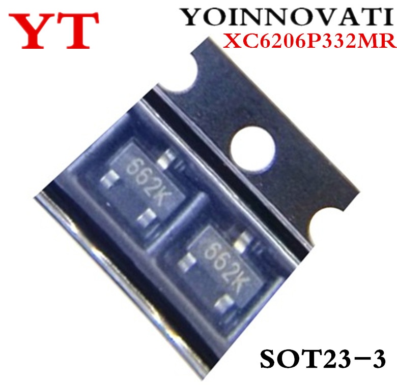 50pcs/lot XC6206P332MR (<font><b>662K</b></font>) 3.3V/0.5A SOT-23 SMD image