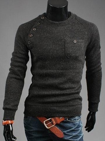 ZOGAA 2019 New Men's Fashion Irregular Button Stitching Fashionable Slim Mens Hoodies Solid Simple Long Sleeve Hoodies
