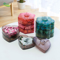 Multilayer Plastic Dried Fruit Tray With Lid Home Baking Tray Snack Bar Living Room Candy Tray