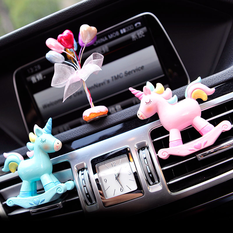 Image 5 - Car Fragrance Resin Unicorn Car Air Conditioning Vent Perfume Clip Creative Cute Air Freshener Solid Balm Decoration Ornaments-in Ornaments from Automobiles & Motorcycles