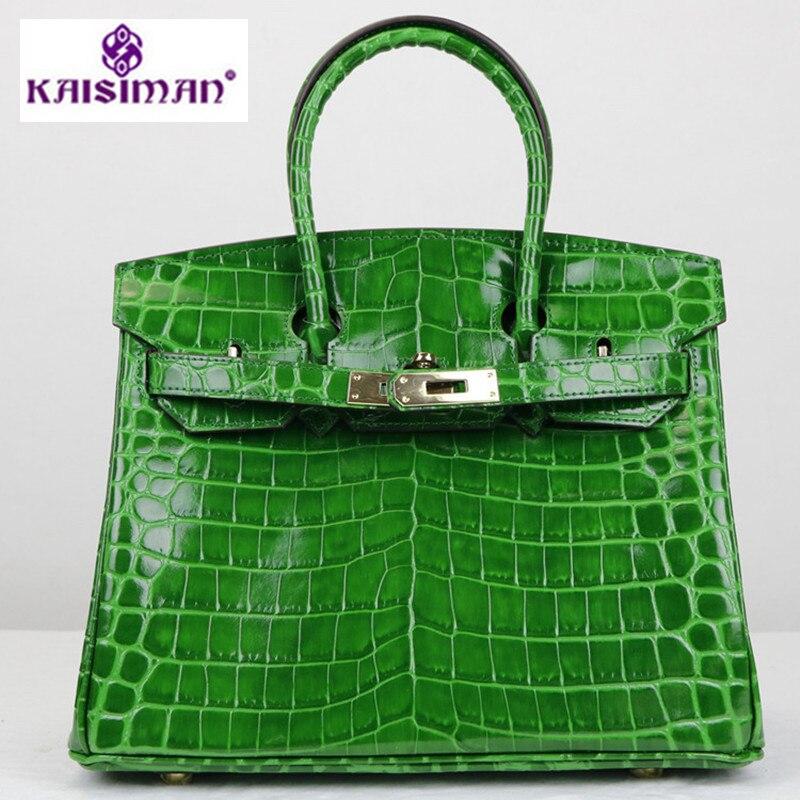 Sacs À Main de luxe Femmes Sacs Designer Crocodile Motif Véritable Fourre-Tout En Cuir Sac Célèbre Marque Femmes D'épaule de Platine Sac Canaux