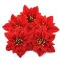 Высота каблука 10 см фланель большой искусственная красная роза цветочные бутоны для дома, свадебное украшение, скрапбукинга
