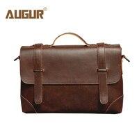 Augur Leather Men's Bag Casual Business Messenger Bag For Male Vintage Crossbody Shoulder Bags Travel Bags Handbag Sac A Main