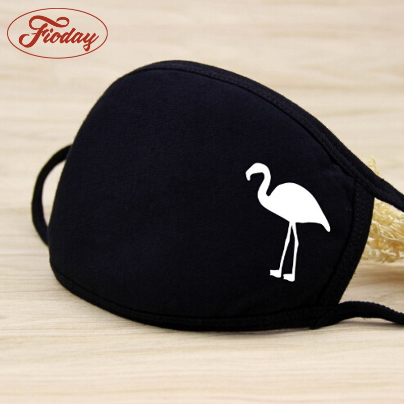 Flamingos Prints Women Mouth Mask Breath Anti-dust Activated Carbon Filter Adult Fabric Breathing Anti-fog Health Care A12D15